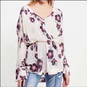 Free People Tuscan Dreams Floral Tunic